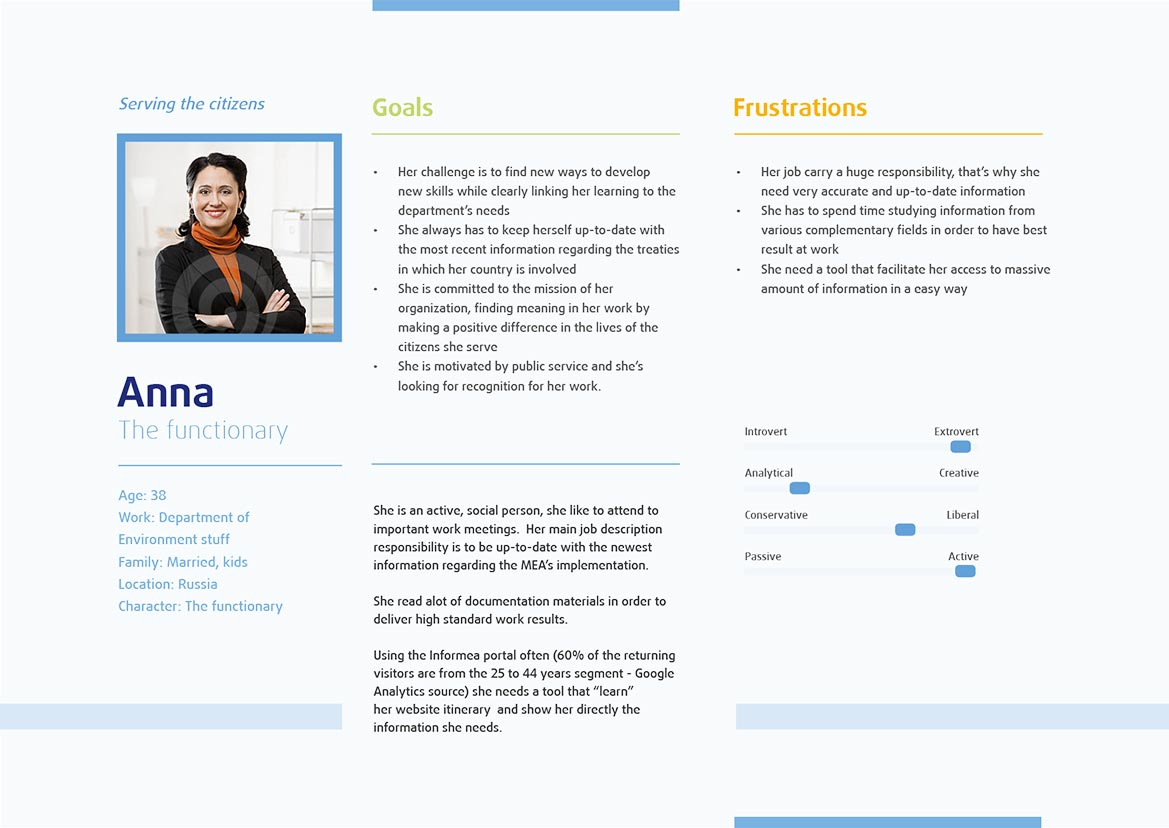UX Design & SEO Audit for United Nations - User Persona definition