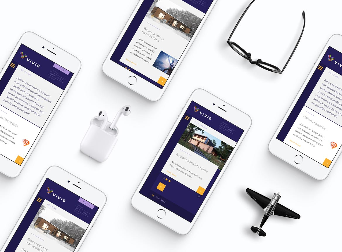 Brand Identity & Strategy for Vivid Modular Smart Homes - UX / UI Design